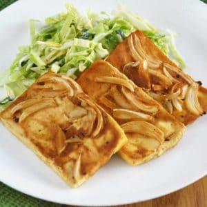 Pieczone tofu w marynacie musztardowej - świetny i łatwy pomysł na pyszne tofu