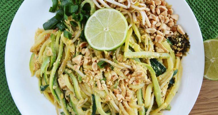 Pad thai z makaronem z cukinii wegetariański – sezonowy, dietetyczny i pyszny