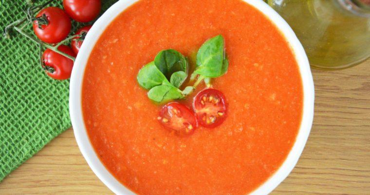 Zupa krem z pieczonych pomidorów – idealny krem na lato