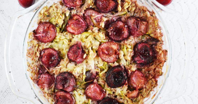 Pieczona owsianka z czereśniami – wegańska, bardzo łatwa i sezonowa