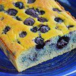 Bezglutenowe ciasto z borówkami - zdrowe, łatwe  i szybkie kokosowe ciasto bez cukru