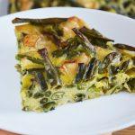 Pieczona frittata z fasolką szparagową i serem camembert - wegetariańska, najłatwiejsza i najlepsza
