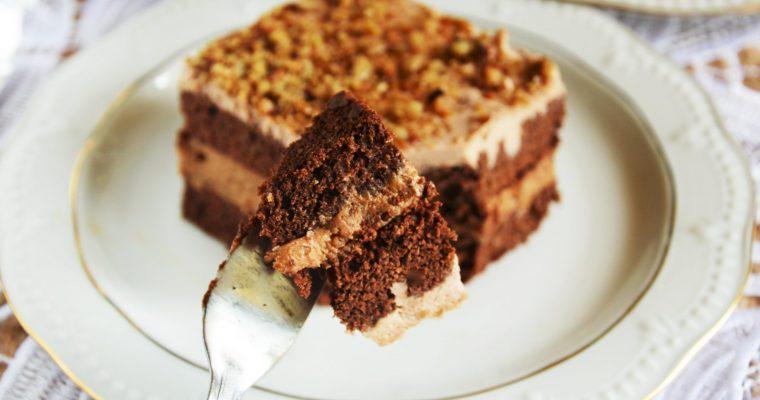 Słonecznikowiec, czyli czekoladowe ciasto z masą kajmakową i słonecznikiem