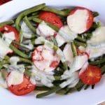 Fasolka szparagowa zapiekana z mozzarellą - łatwe, szybkie i pyszne danie lub dodatek do obiadu