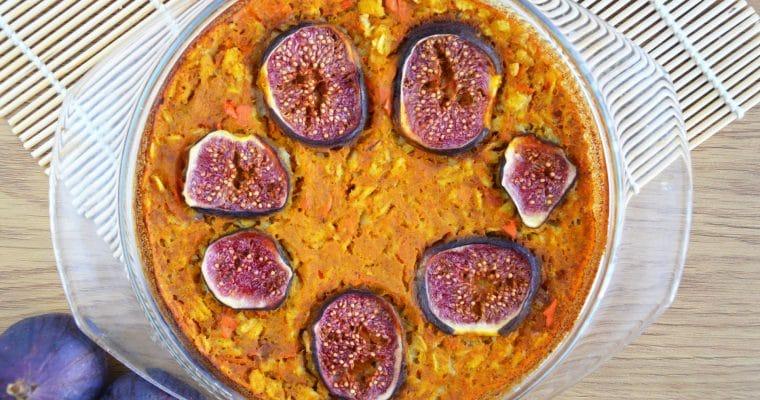 Dyniowa owsianka pieczona z figami – łatwa, słodka i pyszna