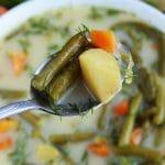 Wegańska zupa z fasolki szparagowej zielonej z koperkiem - sezonowa i pyszna