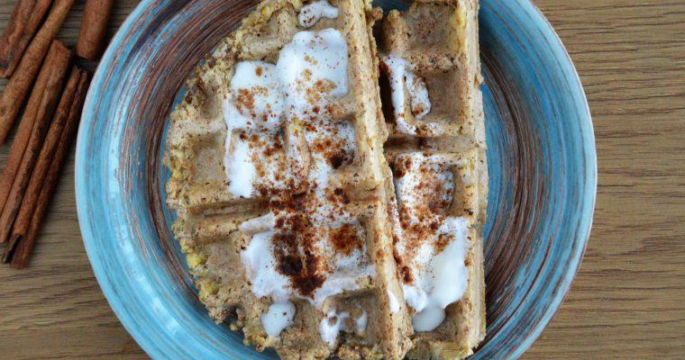 Gofry z tofu na słodko, czyli wegańskie gofry sernikowe bez cukru