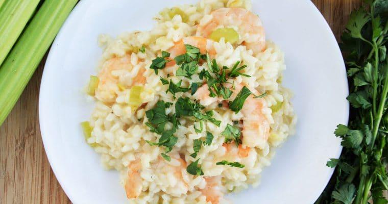 Idealne kremowe risotto z krewetkami – świetny pomysł na romantyczną kolację w Walentynki